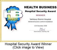 Hospital Security Award Winner 2008